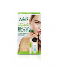 Nad's' Eyebrow Shaping Kit - Eyebrow Pencil + Eyebrow Shaper - Facial Hair Removal For Women - Shape, Fill & Brush Brows - Includes Cotton Strips + Cleansing Wipes + Moisture Soothing Balm