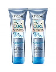 L'Oreal Paris Hair Care EverCurl Hydracharge Shampoo Sulfate Free, with Coconut Oil, 2 Count (8.5 Fl. Oz each)