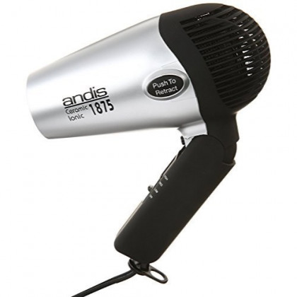 Andis IONIC Compact Hair Dryer with Folding Handle and Retracrable Cord AND COOL SHOT Button