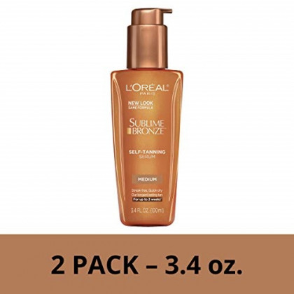 L'Oreal Paris Sublime Bronze Self-Tanning Serum, 2 count