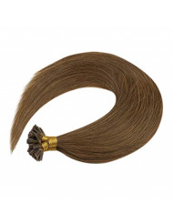 VeSunny 18inch U tip Pre Bonded Hair Extensions Medium Brown Human Hair Hot Fusion Extensions for Woman 50g