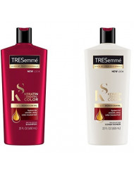 Tresemme Shampoo and Conditioner Keratin Smooth Color With Moroccan Oil 22 Ounce (650ml) (2 Pack)