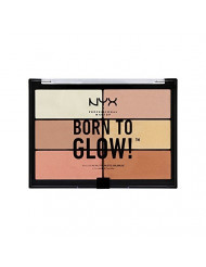 NYX PROFESSIONAL MAKEUP Born To Glow Highlighting Palette, 0.19 Ounce