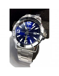 Casio MTP-VD01D-2BV Men's Enticer Stainless Steel Blue Dial Casual Analog Sporty Watch
