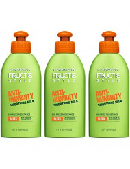 Garnier Fructis Style Anti-Humidity Smoothing Milk for Frizzy Hair, 5.2 Ounce Bottle, 3 Count