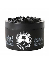Rebels Refinery Hair Styling Paste for Men - Medium, Flexible Hold and Matte Finish - Adds Texture and Thickness to Thinning Hair - Water-Based Formula - 3.5 Oz.