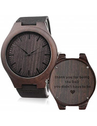 Personalized Engraved Dad Watch - Thank You for Being The DAD You Didn't Have to Be - Fathers Day Gift for Dad