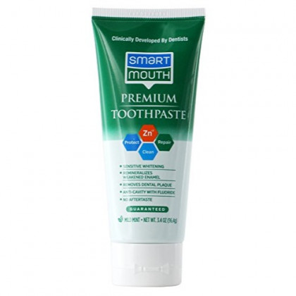 SmartMouth Premium Toothpaste, Travel Friendly 3.4 Ounce Size, 3 Count