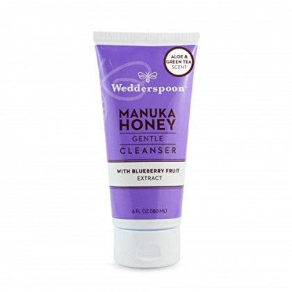 Wedderspoon Organic Manuka Honey Gentle Cleanser with Blueberry Fruit Extract, 6 Ounce