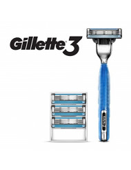 Gillette3 Men's Razor handle by Gillette + 4 Refills