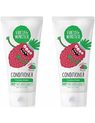 Fresh Monster Natural, Toxin-free Kids Hair Conditioner, Strawberry Smoothie, 2Count, 6 oz