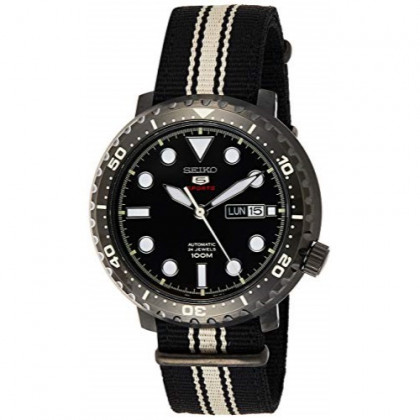Seiko Mens Analogue Automatic Watch with Textile Strap SRPC67K1