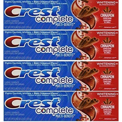 Crest Whitening Expressions Fluoride Anticavity Toothpaste, Cinnamon Rush, 6 oz (4 Pack)