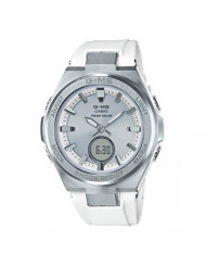 Ladies' Casio Baby-G G-MS White and Silver-Tone Watch MSGS200-7A