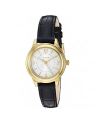 Timex Women's TW2R86100 Classic 26mm Black/Gold-Tone/Silver-Tone Croco Pattern Leather Strap Watch