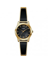 Timex Women's TW2R92900 Stretch Bangle 25mm Black/Gold-Tone Expansion Band Watch