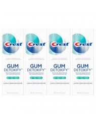 Crest Gum Detoxify Toothpaste, 4.1 Ounce, 4-Pack (Extra Fresh)