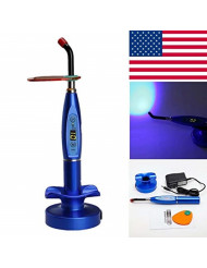 Global-Dental 5W Wireless Cordless LED Light Lamp 1500mw/cm with Tip Blue