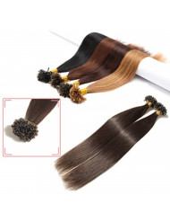 S-noilite Pre Bonded Keratin Human Hair Extensions 22inch 50g U Tip Hot Fusion Remy Hair for Women Girls 0.5g/strand Nail Tip Glue Extensions 100strands #2 Dark Brown