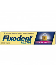 Fixodent Ultra Max Hold Dental Adhesive, 2.2 oz (Pack of 6)