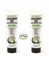 Spa Naturals Coconut Oil Moisturizing Cream with Vitamin E - 2 pk
