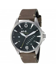 AVI-8 Men's Hawker Harrier II Stainless Steel Japanese-Quartz Leather Strap, Green, 21.5 Casual Watch (Model: AV-4055-03)