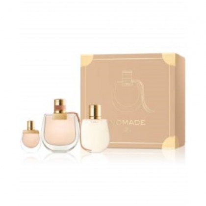 Chloe Nomade for Women 3 Pieces Hard Box Set (2.5 Eau de Parfum Spray + 3.4 Perfumed Body Lotion + 5 Ml Mini)