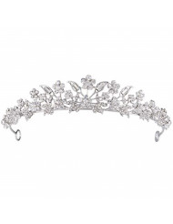 Rhinestone Crystal Tiaras and Crowns Headband For Women Birthday Pageant Wedding Prom Princess Crown (A-003 Silver)