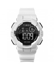 Timex Unisex TW5M23700 DGTL Mako Digital 44mm White/Black Silicone Strap Watch