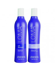 Loma Hair Care Violet Shampoo Violet Conditioner Duo, 12 Fl Oz each