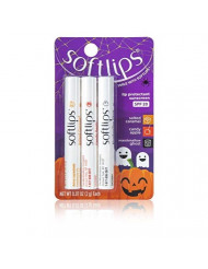 Softlips Limited Edition Halloween Lip Balm Pack - Salted Caramel, Candy Apple and Marshmallow Ghost