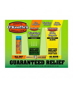 O'Keeffe's Giftbox including Cooling Relief Lip Repair Stick, Working Hands Tube and Skin Repair Tube, Green