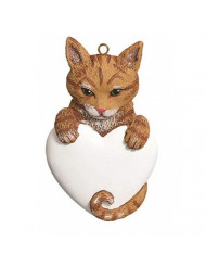 Rudolph and Me Personalized Ornament Tabby CAT Orange Polyresin Kitten Christmas 540O