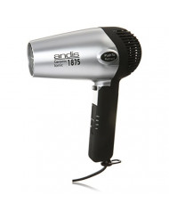 Andis 1875-Watt Fold-N-Go Ionic Hair Dryer, Silver/Black (80020)