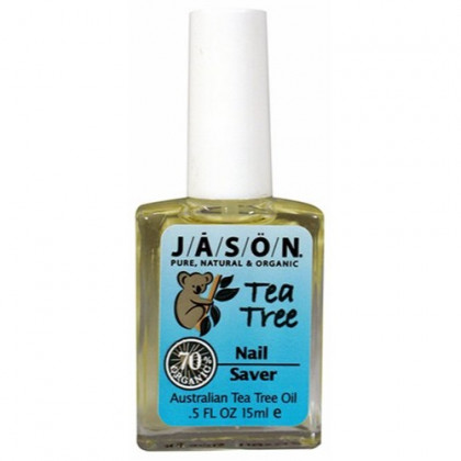 JASON Natural Cosmetics,  Purifying Tea Tree, All Natural Nail Saver, 0.5 Oz