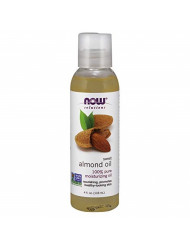 NOW Solutions, Sweet Almond Oil, 100% Pure Moisturizing Oil, Promotes Healthy-Looking Skin, 4-Ounce
