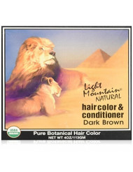 Light Mountain Natural Hair Color & Conditioner, Dark Brown - 4 Oz
