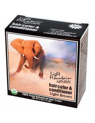 Light Mountain, Natural Hair Color Light Brown, 4 Ounce