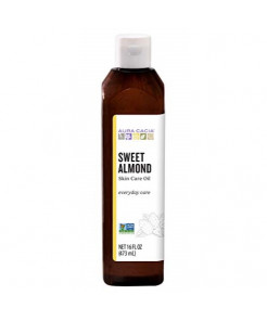 Aura Cacia Sweet Almond Skin Care Oil | GC/MS Tested for Purity | 480ml (16 fl. oz.)