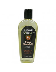 Hobe Naturals Sweet Almond Oil, 4-Fluid Ounce (Pack of 3)