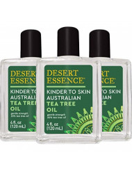 Desert Essence Kinder to Skin Australian Tea Tree Oil - 4 Fl Oz - Pack of 3 - Soothes Stings & Minor Insect Bites - Blemishes - Water Soluble - Essential Oil - Refreshing - Natural Glow
