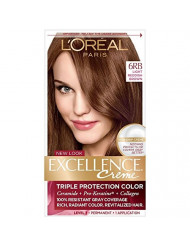 L'Oreal Excellence Creme Triple Protection Hair Color, Light Reddish Brown (Warmer) [6RB] 1 Each (Pack of 3)