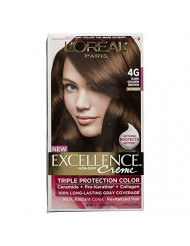 L'Oreal Paris Excellence Creme Hair Color, Dark Golden Brown 4G (Pack of 3)