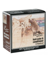 Light Mountain Natural Hair Color & Conditioner, Chestnut, 4 oz (113 g) (Pack of 3)