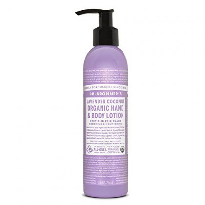 Dr Bronners Lavender Coconut Organic Lotion, 8 Ounce - 6 per case.