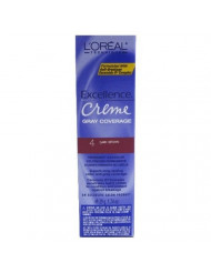 L'Oreal Excellence Creme Color # 4 Dark Brown 1.74 oz. (Case of 6) by L'Oreal Paris
