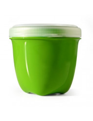 Preserve Food Storage Container, 8 Ounce/Mini, Made from Recycled Plastic, Apple Green