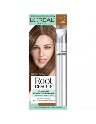 L'Oreal Paris Magic Root Rescue 10 Minute Root Hair Coloring Kit, Permanent Hair Color with Quick Precision Applicator, 100% Gray Coverage, 6 Light Brown, 1 kit