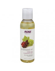 NOW Grape Seed Oil, 4-Ounce (Pack Of 2)
