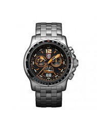 Luminox Men's 9382 Quartz Chronograph Stainless Steel Black Dial Watch